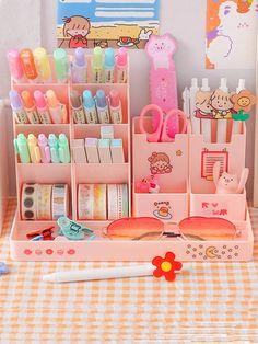 Study Room Decor, Room Setup, Cute Desk Organization, Desk Inspiration, Desk Inspo, Cute Bedroom Decor, Pastel Room, Kawaii Room, Study Desk