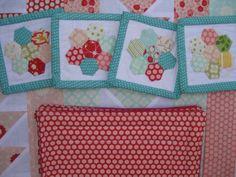 Love!  Love!  Love!  mini hexagon coasters by Aneela Hoey, via Flickr