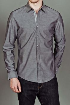 Henley Button Down Shirt