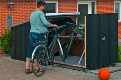 Bygg ett inbrottssäkert cykelgarage som passar även små trädgårdar Interior Design Kitchen, Bicycle, Garage, Carport Garage, Bike, Bicycle Kick, Bicycles, Garages, Kitchen Interior