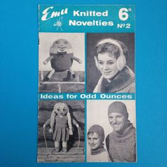 Retro craft booklet which gives instructions on how to create many different items from leftover wool. Approximately 22cm x 13.5cm and 19 pages long with usage and age-related wear (pictured) plus a small split at the bottom of the outside cover across the fold.All items are authentic vintage goods, specially selected for robertafidora.com and as such, items may show signs of wear consistent with age and use.