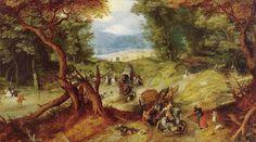 Jan Brueghel the Elder - The Ambush (Koninklijk Museum voor Schone Kunsten - Antwerp  (Belgium - Antwerp)) 1568-1625.