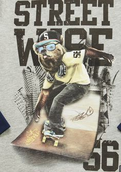 Clothing at Tesco | F&F Street Wise Slogan Mock Layer Long Sleeve T-Shirt > tops > Shop All Boys > Kids