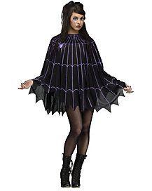 Spiderweb Black and Purple Poncho