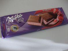 Milka Erdbeer (Strawberry) Bar- Best Chocolate EVER!
