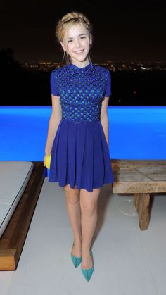 Kiernan Shipka looks pretty in a blue Emporio Armani dress at the Annual Te. Kiernan Shipka looks pretty in a blue Emporio Armani dress at the Annual Teen Vogue Young Hollywood party Cute Little Girl Dresses, Little Girl Models, Cute Young Girl, Beautiful Little Girls, Cute Girl Outfits, Tween Fashion, Star Fashion, Look Fashion, Girl Fashion