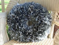 Plastic tablecloth wreath by jacqueline