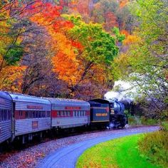 New England Fall Foliage Train. A fall foliage train tour is a leisurely way to experience the beauty of autumn in New England. Places To Travel, Places To See, Vacation Places, Beautiful World, Beautiful Places, Beautiful Scenery, Wonderful Places, Simply Beautiful, Dead Beautiful