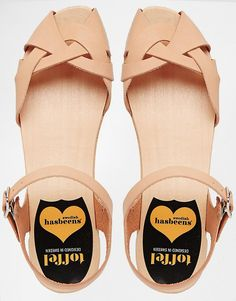 Swedish Hasbeens | Swedish Hasbeens Natural Tutti Frutti Debutant Flat Sandals at ASOS