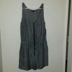 I Heart Ronson Romper Cute gray Romper with zip up front. Light weight material. I Heart Ronson  Other