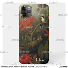 Shop Hummingbird Passion Flower Painting Customize Case-Mate iPhone Case created by LeonOziel. Iphone 11, Apple Iphone, Iphone Cases, Passion Flower, Wedding Announcements, Plastic Case, Hummingbird, Greeting Cards, Tropical