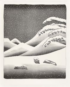 Snow without colour - David  Hockney - Heath Gallery Inc., you can see more at: http://archesart.co.uk/Works/viewPrint/MTMzNw==