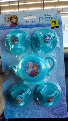 American Girl Doll Size Frozen Tea Set at Doll  General $3.00