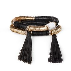 "Sole Society ""Tassel Bracelet Set"", $24.95"