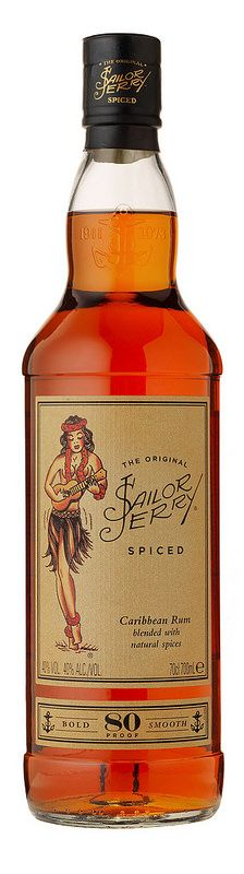 Sailor Jerry Rum in new glass bottle by Ardagh