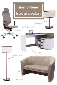 Nincs ötleted az irodád vagy dolgozószobád berendezéséhez? Segítünk neked! Ha egy elegáns és modern irodát szeretnél, akkor ez az összeállítás számodra a legmegfelelőbb. Minőségi bútorok és kiegészítők, melyeket megtalálsz webáruházunk kínálatában. Kattints a linkre és nézz körül nálunk!#office#officedesign#ideas#officefurniture#sofa#chair#kanapé#ruhafogas#forgószék#íróasztal#desk#polc#shelf#iroda#irodadesign#irodabútor#íróasztalilámpa#barna#fehér#brown#white Ravenna, Office Desk, Modern, Furniture, Home Decor, Desk Office, Trendy Tree, Decoration Home, Desk