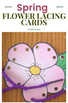 Use these spring fine motor lacing cards to help your preschooler or kindergartner welcome spring. Fine Motor Activities For Kids, Sensory Activities Toddlers, Sensory Bins, Infant Activities, 1st Grade Math, Grade 1, Printable Handwriting Worksheets, Lacing Cards, Homeschool Kindergarten
