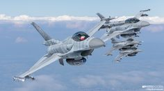 """Polish Air Force Celebrates 10th Anniversary of F-16 service with Air-To-Air Photoshoot - Within the Polish Air Force, the F-16 """"Jastrząb"""" (Jastrząb – Northern goshawk – is the Polish name for the F-16 jet) is being used for a variety of missions, including air-superiority, close air support or reconnaissance with the application of the Goodrich DB110 pod."""