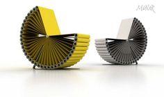 Voici une idée originale, une chaise réalisée à partir de rouleaux de tissus et de papier. Si les meubles doivent être fonctionnel, c'est toujours mieux pour les utiliser, on aime aussi quand…