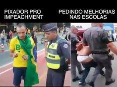 Observem essas 2 abordagens da PM de SP, uma quando é do interesse de Alckmin e outra quando é contra os interesses:  Ps.: O Jovem Carregado não praticou violência alguma em seu protesto: http://educacao.uol.com.br/noticias/2015/12/03/estou-com-muito-medo-diz-estudante-pendurado-por-policiais-em-protesto.htm?cmpid=tw-uolnot fonte: https://www.facebook.com/contragolpefascista/videos/818521098282376/