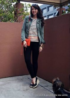 closed toe wedges and jeans - Google Search