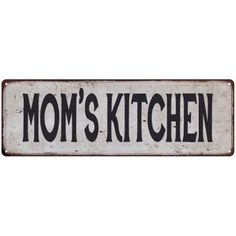 MOM'S KITCHEN Vintage Look Rustic Metal Sign Chic Retro 6182711 #rustickitchens