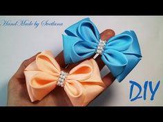 Бантики из лент КАНЗАШИ DIY Bows made of ribbon Kanzashi Laço de Cetim Curva da fita 6 Ribbon Art, Diy Ribbon, Ribbon Crafts, Ribbon Bows, Grosgrain Ribbon, Handmade Hair Bows, Diy Hair Bows, Ribbon Projects, Diy 3d