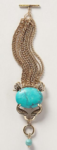 love this #gold and turquoise #blue bracelet http://rstyle.me/n/mff59r9te