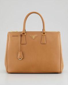 Prada - Saffiano Executive Tote Bag, Caramel