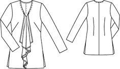 Bluse - Volants 131 11-2012. 36-44. Drapey fabrics.