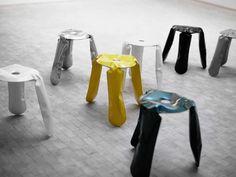 metal stool called Plopp