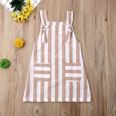 Pudcoco Summer Toddler Baby Girl Clothes Sleeveless Striped Strap Dress Casual P. - My Pins - Pudcoco Summer Toddler Baby Girl Clothes Sleeveless Striped Strap Dress Casual Pockets Summer Sundr - Frocks For Girls, Kids Frocks, Dresses Kids Girl, Kids Outfits, Cute Outfits, Dress Girl, Cute Kids Clothes, Baby Girl Clothes Summer, Cute Baby Dresses