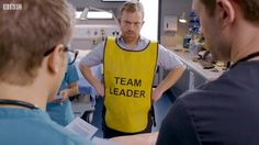 Casualty: Try being breezy Bbc Casualty, Holby City, Bbc Drama, Medical Drama, Team Leader, Tank Man, Tv Shows, Actors, Dramas