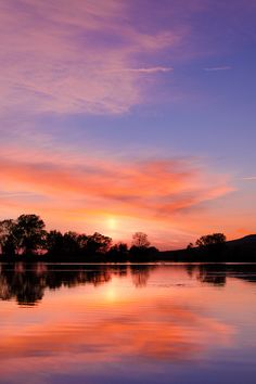 Sunset over the Forebay in Oroville, CA, USA. Enjoy this photo on your wall, when you shop at www.BuuckPhotography.com
