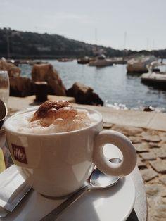 Hmmmm..morning coffee in Villefranche