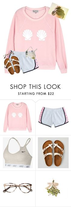 """The group chat with my 2 bestfriends"" by erinleigh02 ❤ liked on Polyvore featuring Wildfox, NIKE, American Eagle Outfitters and Ace"