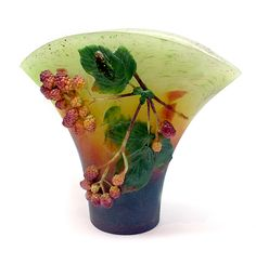 Raspberry vase by Kimiake Higuchi.  Available at Wexler Gallery.