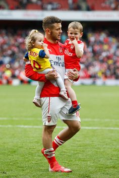 Jack Wilshere and his little Gooners. Arsenal 4-1 West Brom (May 2014)