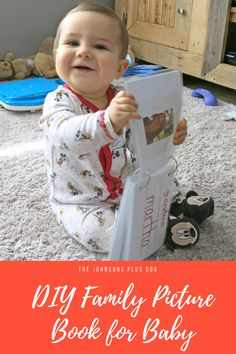 For this craft room destash challenge, I made a DIY family picture book for baby! This DIY is perfect to help your baby learn family's faces and names.
