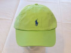 Mens Polo Ralph Lauren hat cap golf casual Green 4331002 adjustable classic…