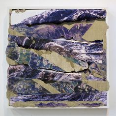 "Colorado Purple 2012 Concrete, C-print transfer, C-print, wood frame 21"" x 21"" x 2"" - Letha Wilson"