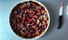 Tart with plums