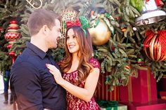 There's just something so romantic about a holiday engagement session at Disneyland Night Engagement Photos, Disneyland Engagement Photos, Disney Engagement, Engagement Session, Disney Couples, Disney Girls, Disney Love Stories, Perfect Wedding, Dream Wedding