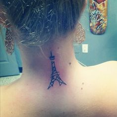 I got this a few weeks ago. The picture was taken right after I got it so that's why it's a little red. I got an eiffel tower because it's my favorite structure in the world. It also represents my wanting and love for traveling. I got it done at Artistic Soul in Ormond Beach, Fl. My artist was named Josh. He did an amazing job and i'm still obsessed with it now.