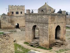 Ateshgah fire temple in Azerbaijan. This is supposed to be the first or one of the earliest fire temples of the Zoroastrian religion.