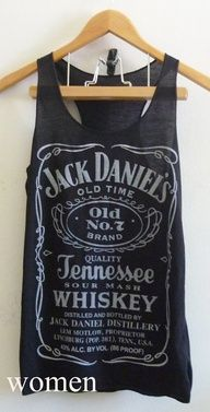 Jack Daniels whiskey sign Black Tank top size S/M by joArtwork, $12.50 - got to love vintage tanks!