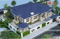 Thiết kế nhà vườn 250m2 4 phòng ngủ mặt tiền 16m ở Hậu Giang Latest House Designs, Bungalow House Design, Home Fashion, Decoration, House Plans, Home And Garden, Mansions, Architecture, House Styles