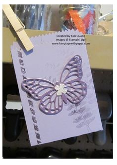 stampin up butterfly framelit gift bag