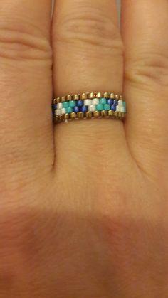 Bead Jewellery, Diy Jewelry, Beaded Jewelry, Jewelry Rings, Handmade Jewelry, Beaded Necklace, Jewelry Making, Diy Bracelets Patterns, Jewelry Patterns