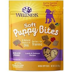 Wellness Soft Puppy Bites Natural Grain Free Puppy Training Treats, Lamb & Salmon, Bag by Wellness Natural Pet Food Buy n. Natural Pet Food, Natural Dog Treats, Free Puppies, Best Puppies, Tiny Puppies, Chihuahua Puppies, Dog Treat Recipes, Dog Food Recipes, Best Treats For Dogs